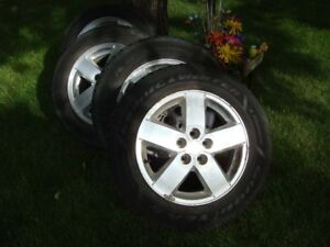 4-195 65 r15 goodyear snow tires on cavalier 5x100mm wheels