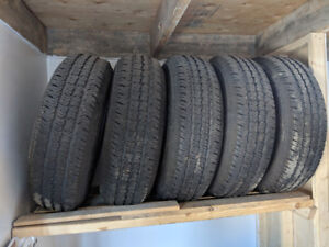 5 tires P225/75R16 on Jeep wheels