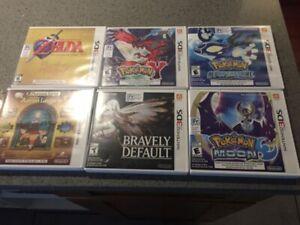 Nintendo 3DS Games - Pokemon, Zelda, Bravely Default, Layton