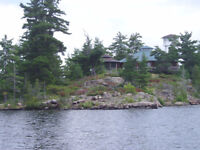 Vacation cottage and island for sale upper French River