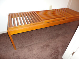Midcentury Teak Bench Or Coffee Table..... Solid Teak