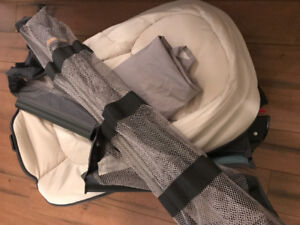 Playpen with bassinet and change station