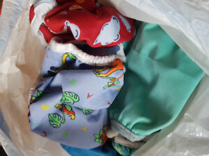Bag of fabric diapers-multiple sizes