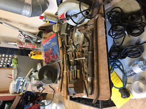 All sorts of tools from antique to bigger tools