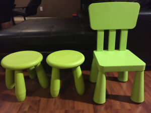 Children's Stools and Chair