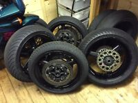 Yamaha R1 wheels with discs and wets