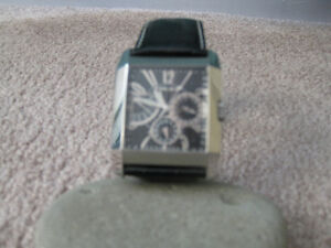 Men's Police Watch 10966M With Genuine Black Leather Strap