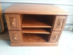 solid wood Tv stand or small storage shelf $25