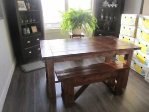 Pine Farnhouse tables and benches