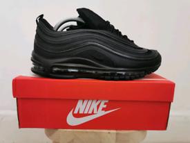 Nike Air Max 97 UK 7.5 Triple Black Reflective UK 7.5 EUR 42 BRAND NEW