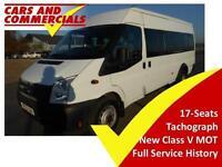 2012 FORD TRANSIT MINIBUS 430 LWB EL 135ps 17 Seats Tachograph