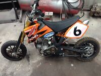 Mini moto project starts and goes needs small work not quad kart welder scrambler summer fun