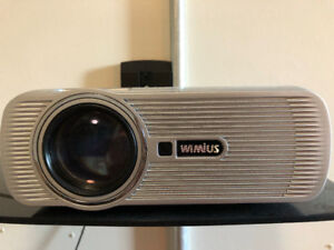 """WiMius LED 1080p Projector with 120"""" Screen and Wall Mount"""