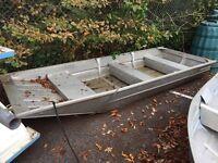 Flat Hulled Aluminium/Tin Launch, ideal for fishing