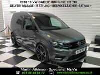 2018 18 Volkswagen Caddy Highline 2.0TDI Indium Grey 102ps R styling pack