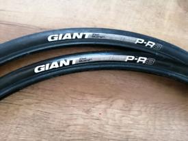 Giant tyres.