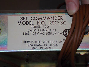 Antique TV Remote - Jerrold Set Commander Stratford Kitchener Area image 3