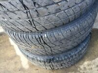 4 tires with Chevy rim. 215/60 R 15 M+S