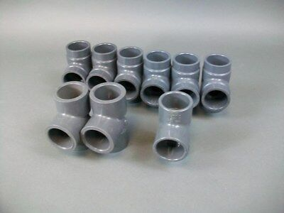 Lot Of 9 Miscellaneous 1 14 Sch-80 Tee Fitting Pvc Socket