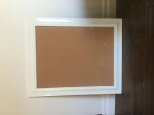 White cork board