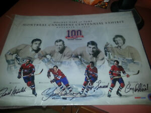 Montreal Canadiens 16x20 autograph poster