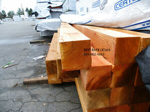 Cedar 6x6 boards / siding and decking