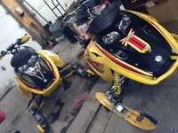 Parting out 2004 mxz 600 ho & 2005 mxz 800 ho rev ski-doos