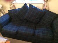 Black Watch Tartan 3 Seater Sofabed