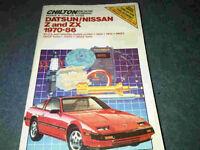 Datsun/Nissan Z&ZX 1970-86 Repair Manual