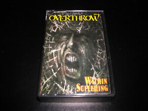 Overthrow - Within suffering (1990) cassette audio Heavy Metal