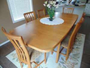 TEAK Dining Room Table and Buffet & Hutch