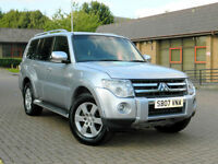 2007 07 Mitsubishi Shogun 3.2 DI-DC Warrior 5dr (LWB) WITH TOP SPEC+FULL S/H