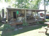HOLIDAIRE 20 ', sleeps 6 ,A/C, ALSO selling a  24' Covered deck
