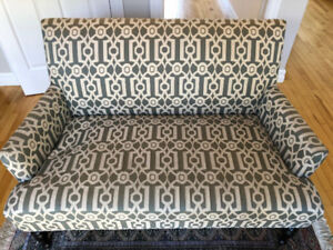 Pier 1 Imports - Blue/Creme Patterned Couch - $100 OBO