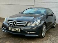 2012 Mercedes-Benz E Class 2.1 E220 CDI BlueEFFICIENCY Sport G-Tronic 2dr Auto C