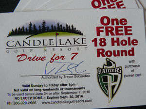 5 Rounds of Golf at Candle Lake Golf Resort for $40.00 Total !!