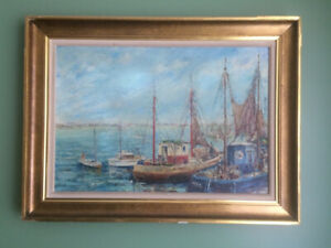 ANTIQUE PAINTING - OIL ON CANVAS