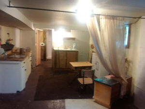 1 bedroom Studio /Bachelor basement apt in private home.