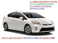 PCO CARS TO RENT TOYOTA PRIUS FROM £100 UBER, CAB, TAXI READY