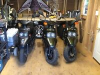 Pair of 2000 BW Yamaha scooters 50 cc