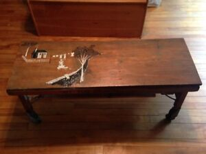 Antique BT Washing Tub Bench