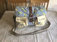 Pink lining baby changing bag / hospital bag