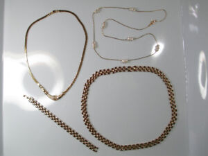 Gold plated necklaces & Sterling silver bracelet - BRAND NEW!