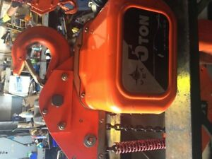 5 Ton Jet Electrical Chain Hoist c/w Trolley Push/Pull