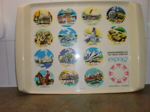 VINTAGE EXPO 67 PAVILLION TRAY
