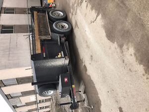 Miska 6 ton dump trailer with ramps electric brakes tandem axle