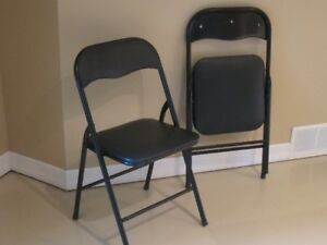 Folding Chairs (2) Black