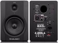 M Audio BX5 D2 Monitors Boxed as new Pair of Studio Monitors