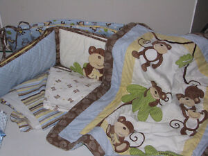Monkey time bedding set plus
