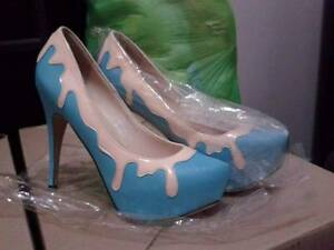 Melted ice cream look high heels from Fiebiger (EU40) Munno Para Playford Area Preview